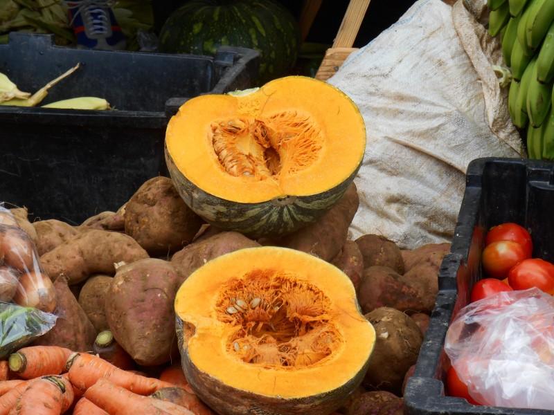 Farmer's market in Negril, Jamaica