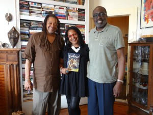 Margaret Porter with Quincy Troupe (rt.) and Earl Monroe